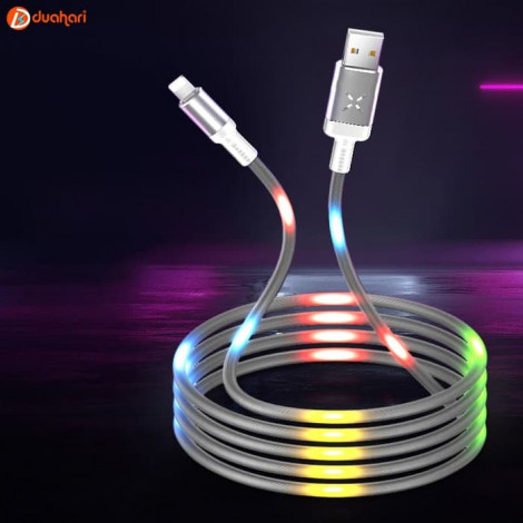 LED Dancing Cable Apple LIGHTNING Kabel Voice Control Dancing LED - Abu-abu