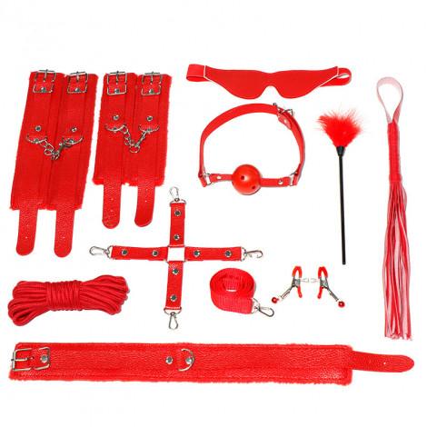 SM Plush Leather 10pc Set - Red
