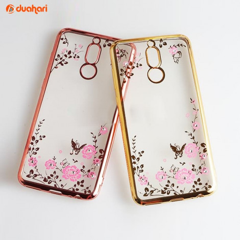 Secret Garden Soft Case HUAWEI NOVA 2i Casing Flower softcase NOVA 2i - Rosegold