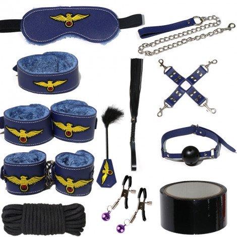 SM Flight Attendant Plush leather 12pc Set - Blue