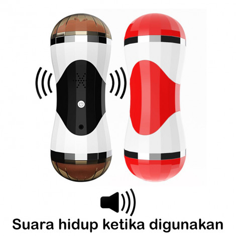 Alat Bantu Pria Black Electric Flash Cup Active Vioce