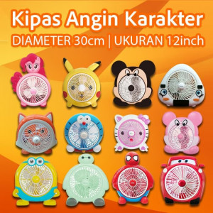 Mini Fan / Kipas Angin WELLHOME LUCU KARAKTER Kartun