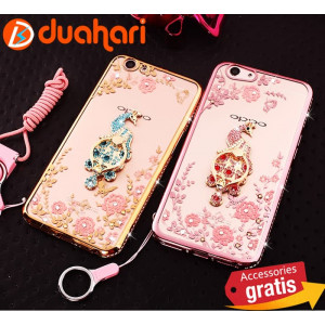 3in1 Case XIAOMI MI MAX 2 Casing SECRET GARDEN Crystal Casing Diamond - Rosegold
