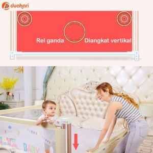 Bedrail Baby Bed Fence Pagar Pembatas Pengaman Kasur Bayi
