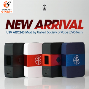 Authentic USV ARC 240W Tc Box Mod Authentic Mod Vape Vapor Vaping - Putih Merah