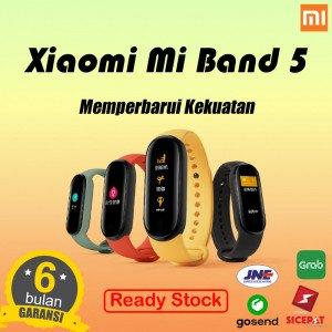 Xiaomi Mi Band 5 Amoled Smartband Multi Language MIband 5 - Hitam - NON NFC