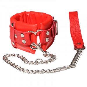 SM Soft Sex Collar - Red