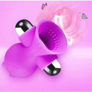 Breast massager little with sticker - PURPLE