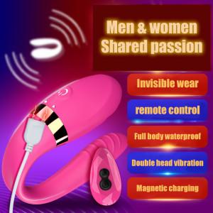 Wearable double shock vibrator
